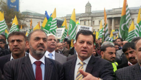 London:  Kashmir Million March venue Trafalgar Square on 26th Oct 2014